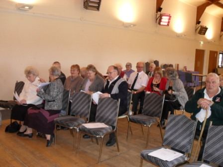 01. Members wait for the AGM to commence