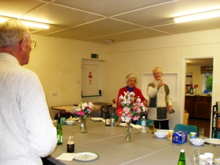 13. Dinner at Anderby village hall