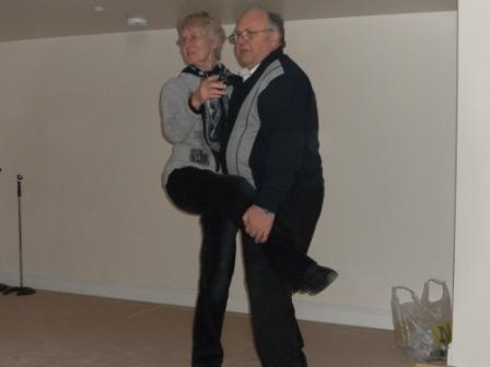 07. Betty  Ray practice their moves on stage at Anderby Hall