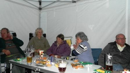 04. Socialising in the marquee