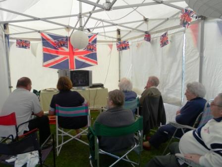 03. Watching the royal wedding in the marquee