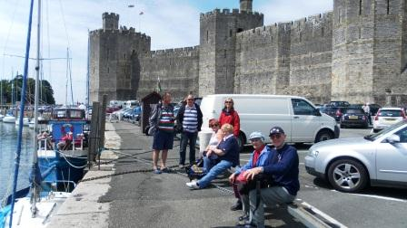 03. Everyone meets up outside Caenarfon Castle