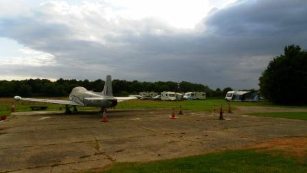 01. A view of the rally field from the Jet Provost