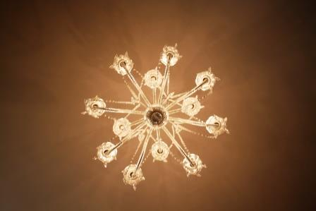 27. Snowflake shaped chandelier
