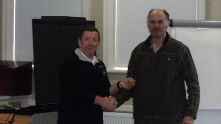 19. Mike receives his Committee badge