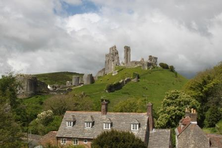 16. Corfe Castle from the steam train to Swanage