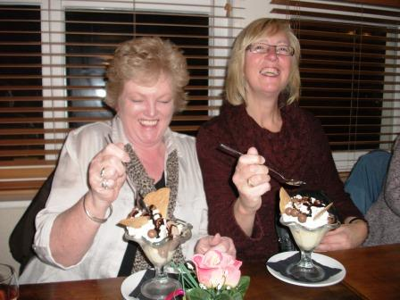 13. So are Jackie and Maggie with their Malteser sundaes