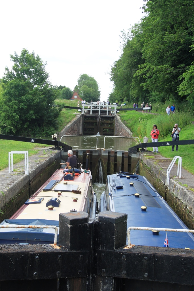 39. Two barges in the locks