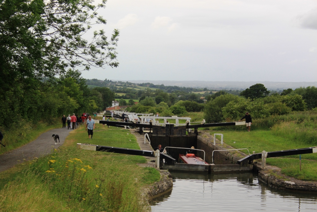 43. Its a steep walk up the locks
