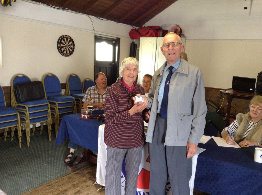 14. David and Hazel receive their 25 year plaque