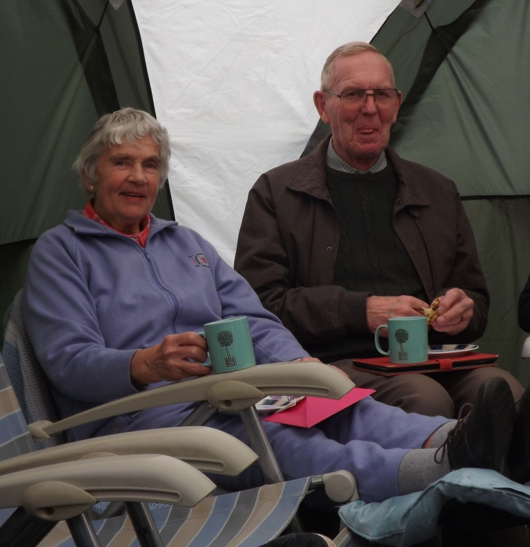 09. Hazel and David enjoy a mug of tea