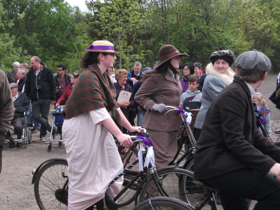 28. WI on their bikes at Beamish
