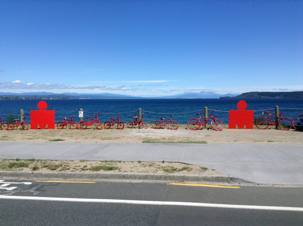 11. Iron Man signs at Take Taupo
