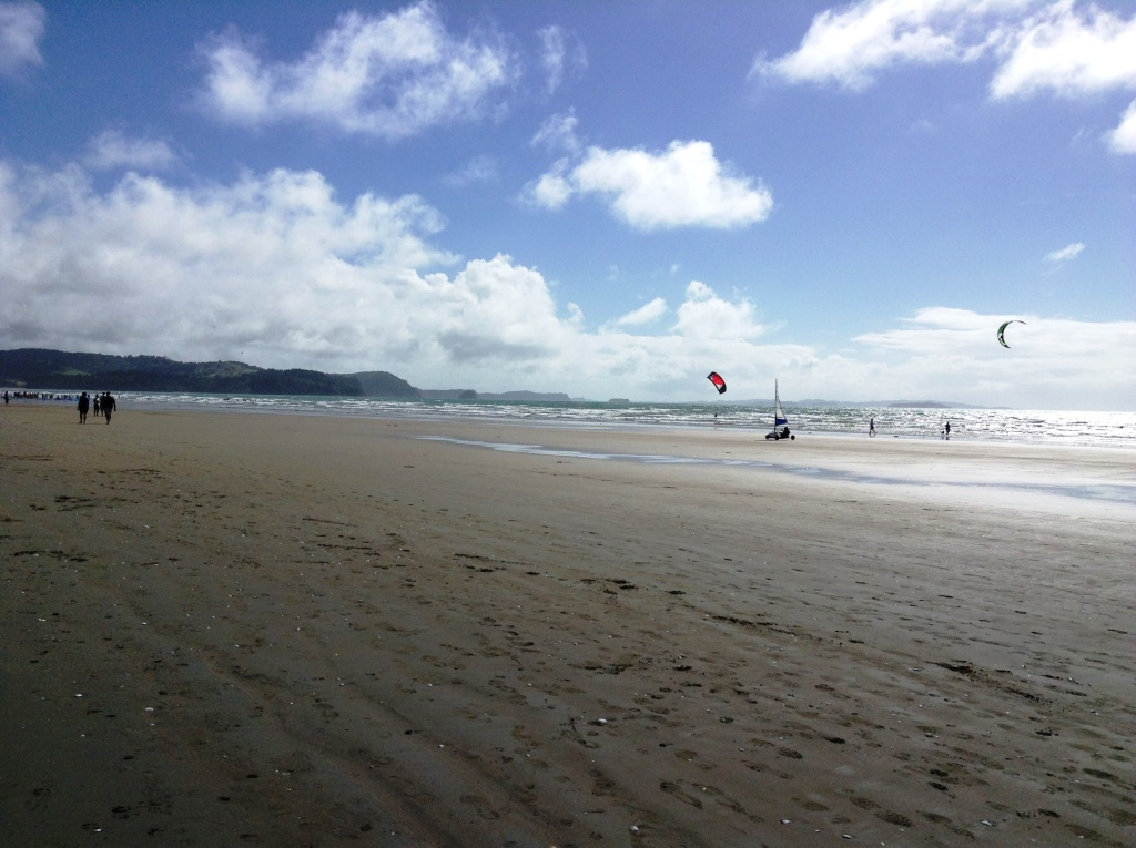 21. Wind surfing on Orewa Beach
