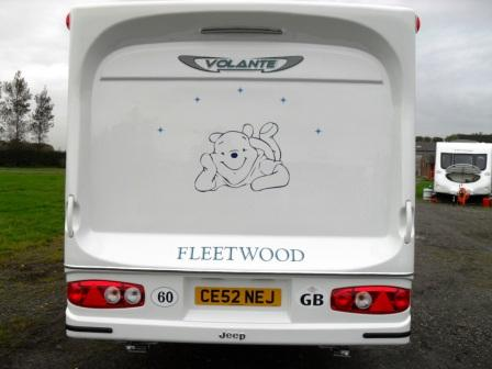 2004 Volante Rear with pooh bear graphic